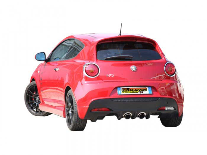 Ragazzon Stainless Steel Sports Exhaust Duplex with 2x90mm Sport Line Tail Pipes (Alfa Mito 1.3 JTDm)
