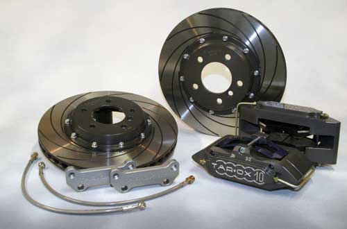 Tarox Brake Conversion Kit Front with 10 Pot Calipers and 330x26mm Discs (Abarth 500)