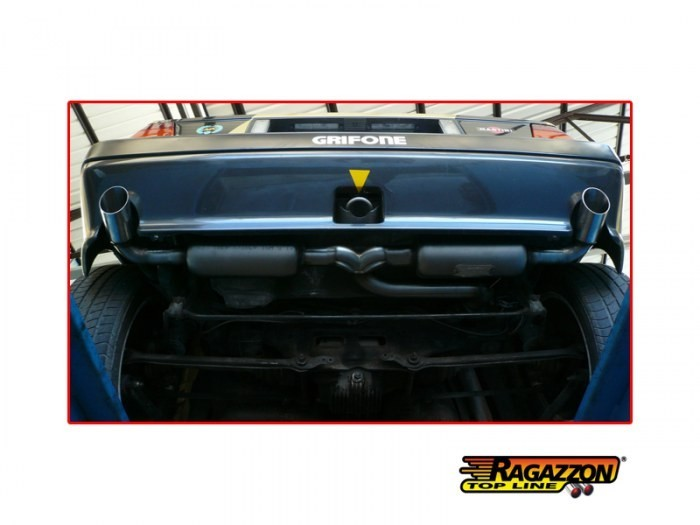 Ragazzon Stainless Steel Sports Exhaust with 70mm Round Tail Pipes (Lancia Delta Integrale 2.0 8V/16V)