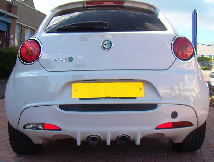 Ragazzon Stainless Steel Sports Exhaust Duplex with 2x90mm Sport Line Tail Pipes (Alfa Mito)