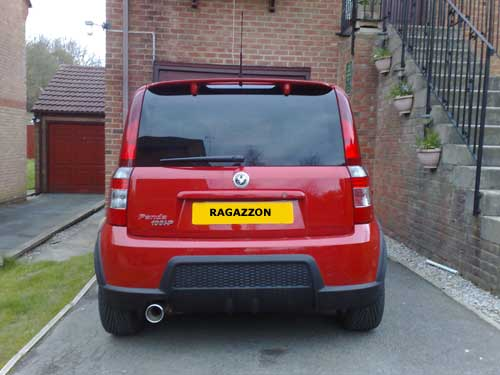 Ragazzon Stainless Steel Sports Exhaust with Round 90mm Tail Pipe (Fiat Panda 1.4 16V 100 HP)