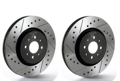 Tarox Drilled and Slotted SJ Performance Front Discs 281x26mm (Pair)