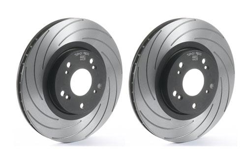 Alfa 166 2.0 16v TS Front Drilled Grooved Brake Discs
