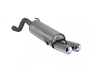 Ragazzon Stainless Steel Sports Exhaust with Round 2x80mm Tail Pipe Alfa Mito