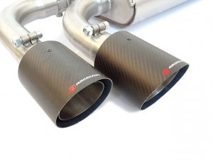 Ragazzon Stainless Steel Sports Exhaust Oversize 70mm with 2x100mm Carbon Tail Pipes + Electronic Remote Valve Control Abarth 124 Spider 1.4 Multiair
