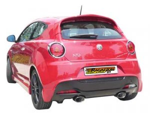 Ragazzon Stainless Steel Sports Exhaust Duplex with Oval 135x90mm Tail Pipes Alfa Mito