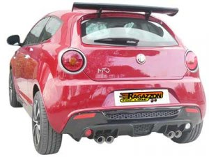 Ragazzon Stainless Steel Sports Exhaust Duplex with Sports Line 2x70mm Tail Pipes Alfa Mito
