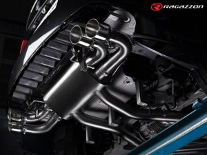 Ragazzon Performance Silencer with 102mm Tail Pipes Electrical Valves and Remote Control (Alfa Giulia 2.9 V6 TB QV)