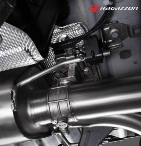 Ragazzon Performance Silencer with 100mm Carbon Tail Pipes Electrical Valves and Remote Control (Alfa Giulia 2.9 V6 TB QV)