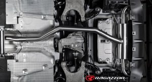 Ragazzon Stainless Steel Sports Exhaust with Carbon 90mm Tail Pipes Alfa Giulia