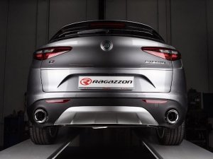 Ragazzon Stainless Steel Sports Exhaust without Silencer and Tail Pipes Alfa Romeo Stelvio