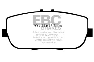 EBC Yellowstuff Performance Pads Complete Rear Set Abarth 124 Spider