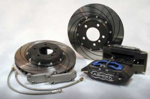 Tarox Brake Conversion Kit Front with 6 Pot Calipers and 330x26mm Discs Lancia Delta Integrale EVO
