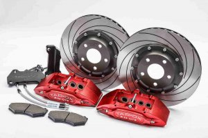 Tarox Brake Conversion Kit Front with 6 Pot Calipers and 305x26mm 2 Piece Billet Discs Alfa 147/156/GT